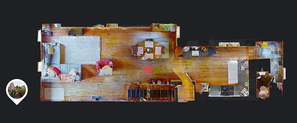 Floor plan view of 2539 Christian Street in Matterport